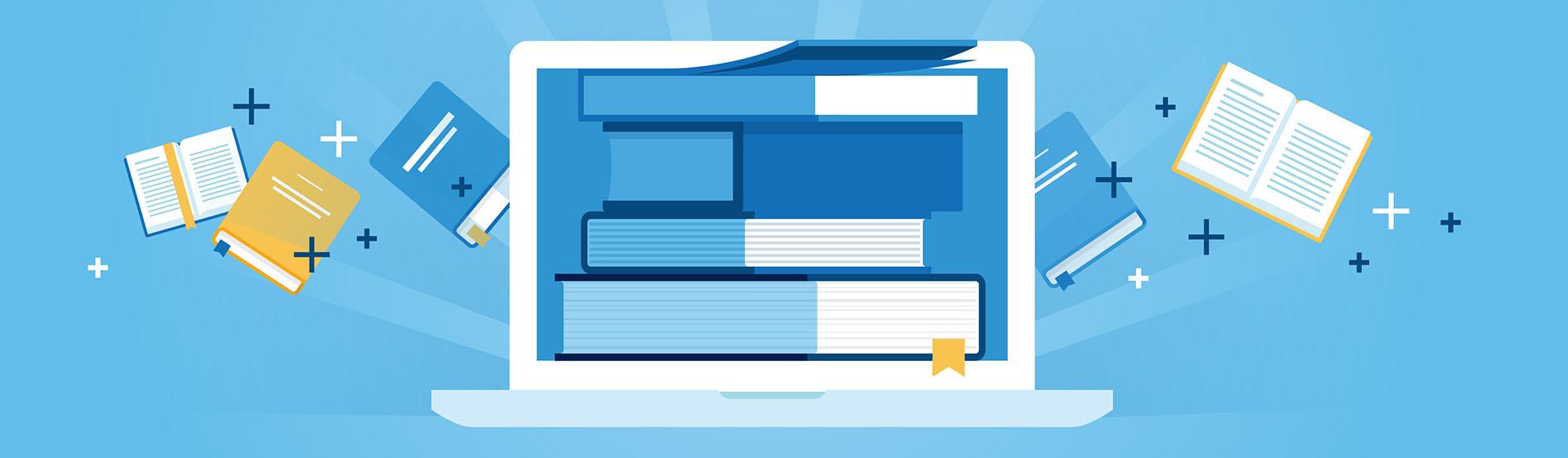 Afbeelding PC en boeken